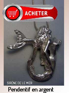 sirène de le mer pendentif bijoux signification symbole