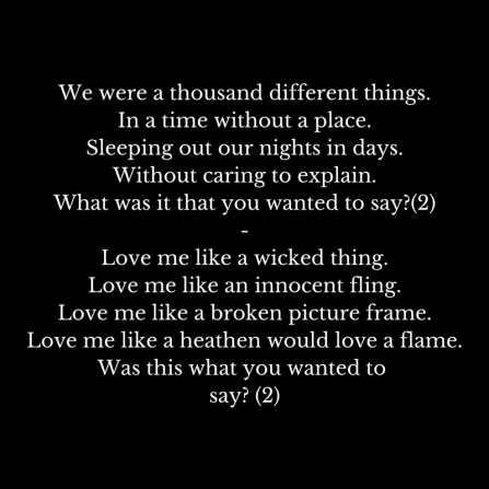 We were a thousand different things.