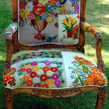 70s-Patchwork Chair 1