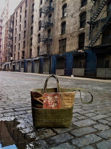 Canvas Patchwork Tote New York
