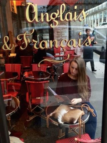 Ophelia & Springbok in Paris Cafe
