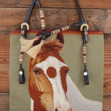 Light Green Horse Needlepoint