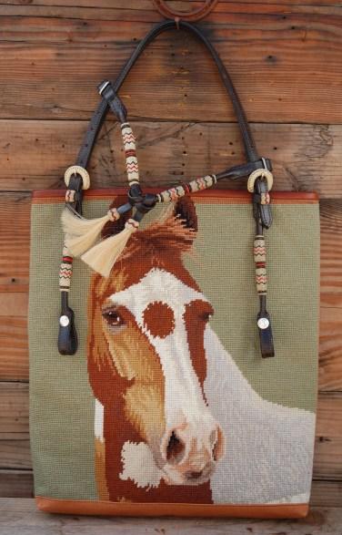 Light Green Horse Needlepoint