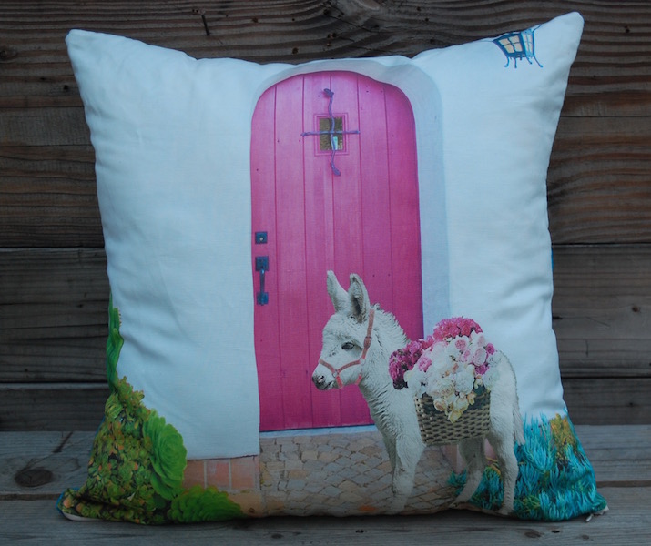 Pink Door Donkey Pillow