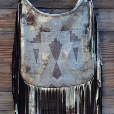 Metallic Thunderbird Shoulder Tote