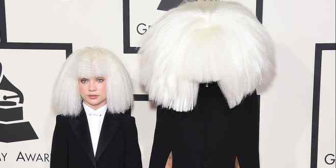 Sia and Maddie arrives to the Grammy Awards
