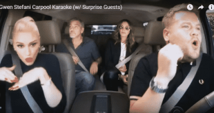 carpool karaoke with Gwen Stefani
