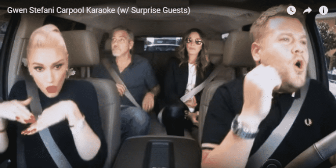 carpool karaoke with Gwen Stefani