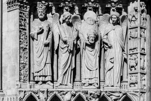 The famous sculptures of Notre Dame
