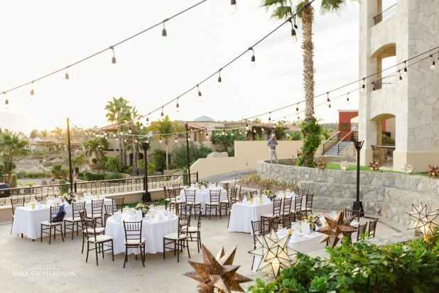 open terrace wedding