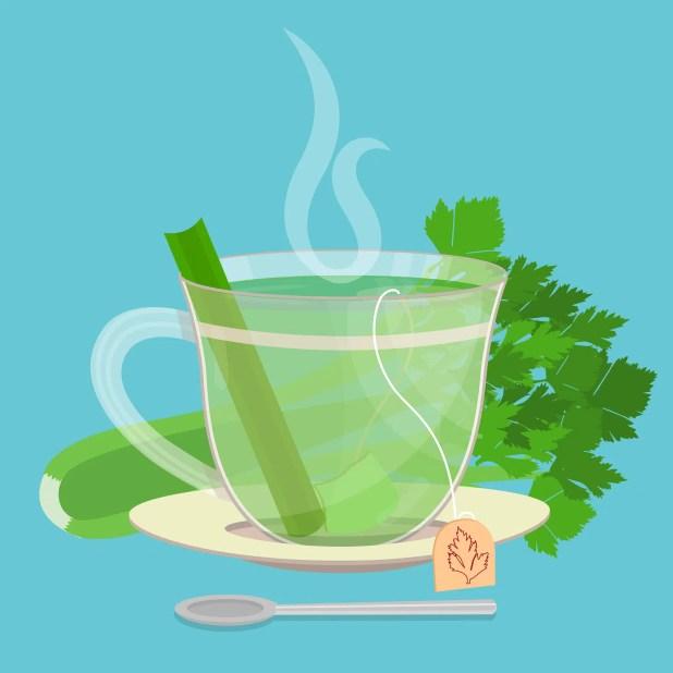 Cup of celery tea