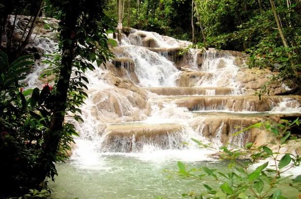 Dunn's River Falls in Jamaica