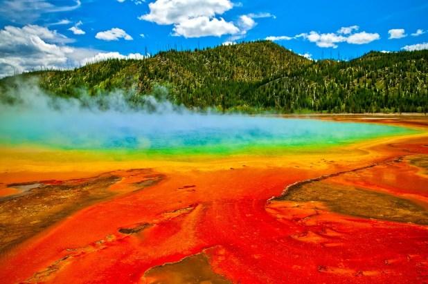 Beautiful cerulean geyser