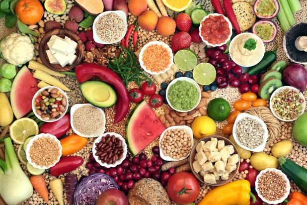 Large vegan health food collection