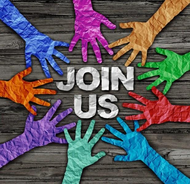Join us recruit membership concept