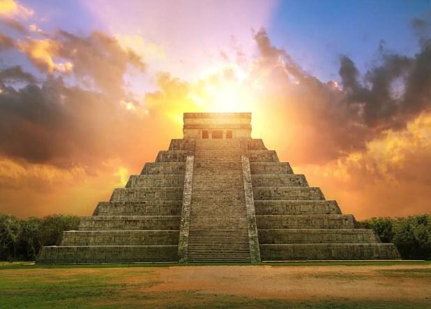 Chichen Itza, Mayan pyramid of Kukulcan El Castillo by Tripps Plus Las Vegas