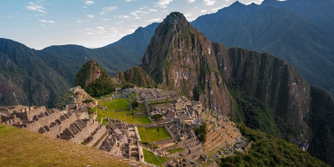 View of the ancient city of Machu Picchu, Peru