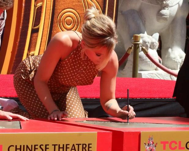 Scarlett Johansson at the Avengers Cast Members Handprint Ceremony