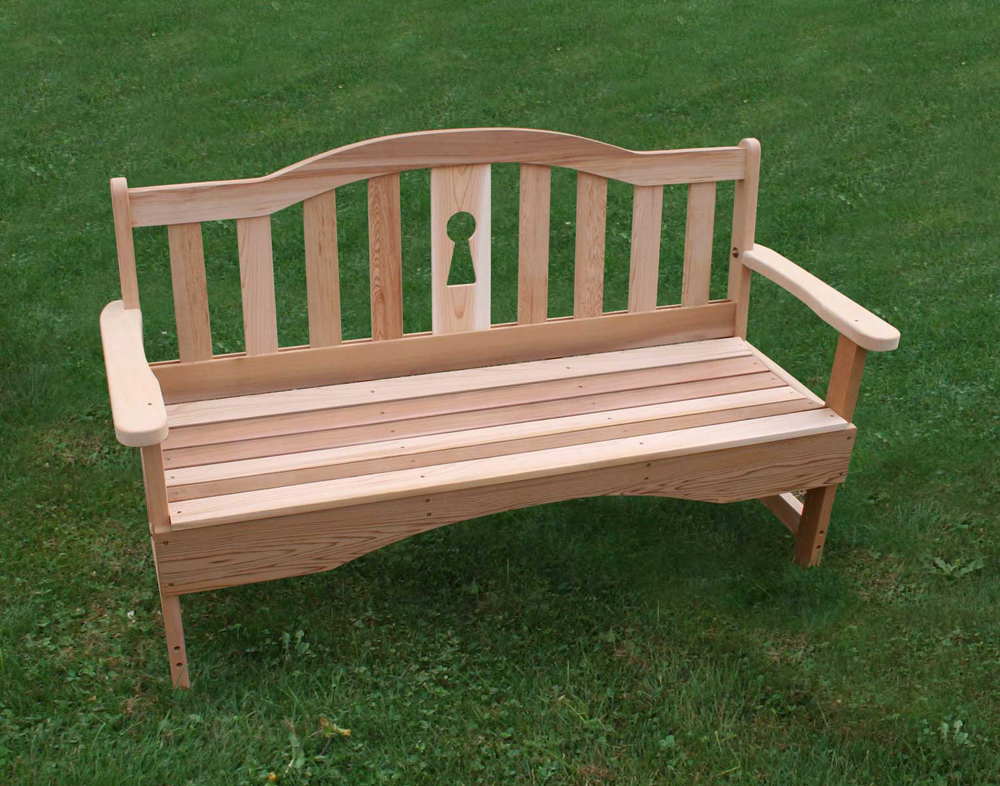 2 ft Cedar Keyway Garden Bench