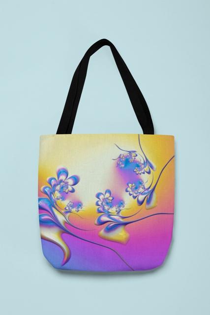 Fantasy Fractal Blossoms - Tote Bag