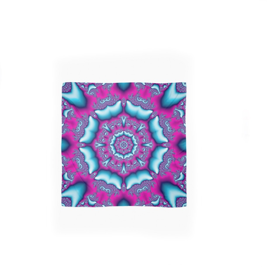 TEAL AND PINK KALEIDOSCOPE – SCARF