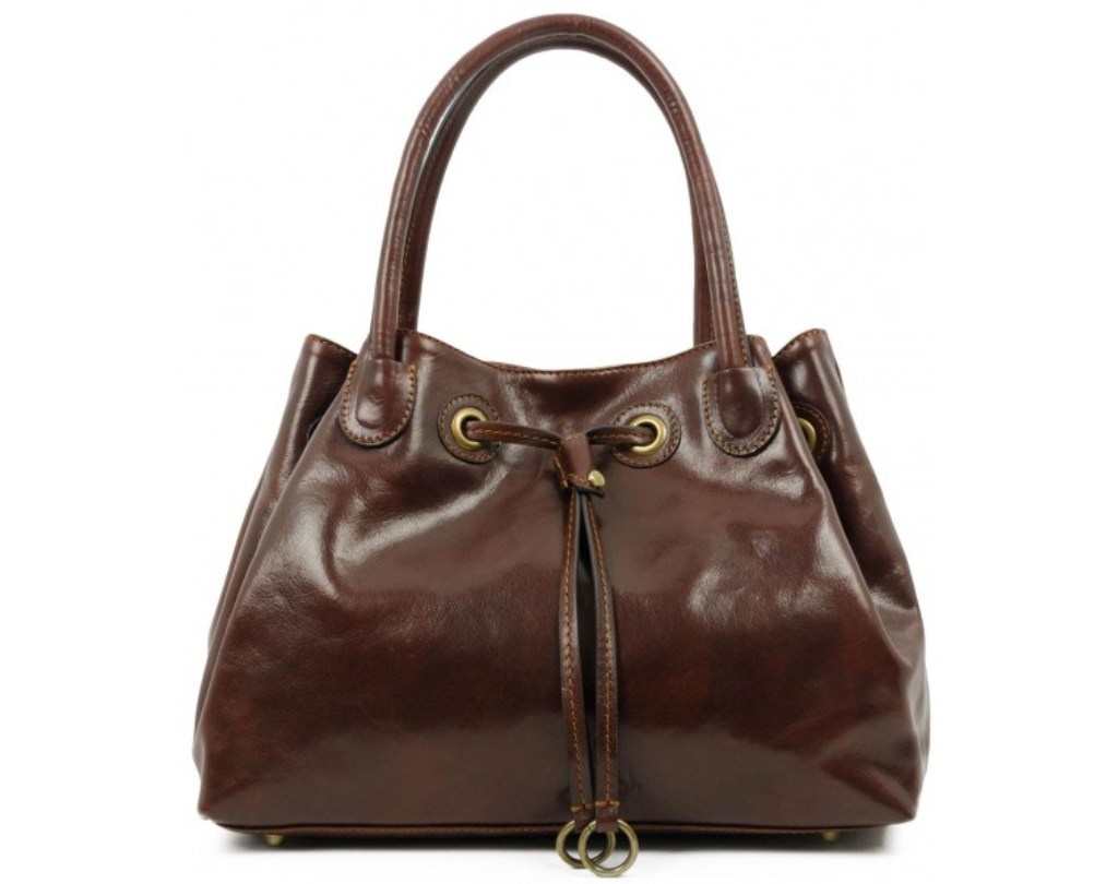 BROWN LEATHER TOTE BAG FOR WOMEN – LOLITA