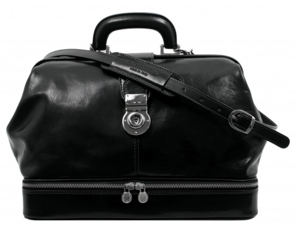 BLACK LARGE LEATHER DOCTOR BAG – NORTHERN LIGHTS