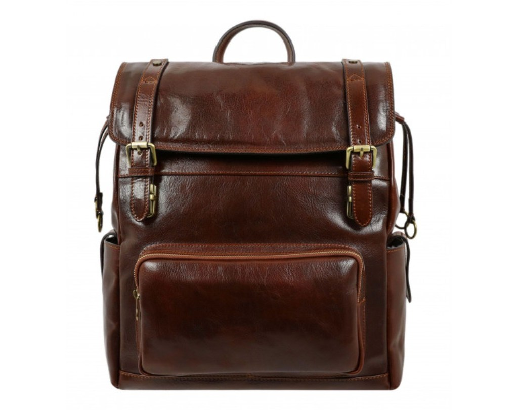 DARK BROWN LEATHER BACKPACK – THE GOOD EARTH