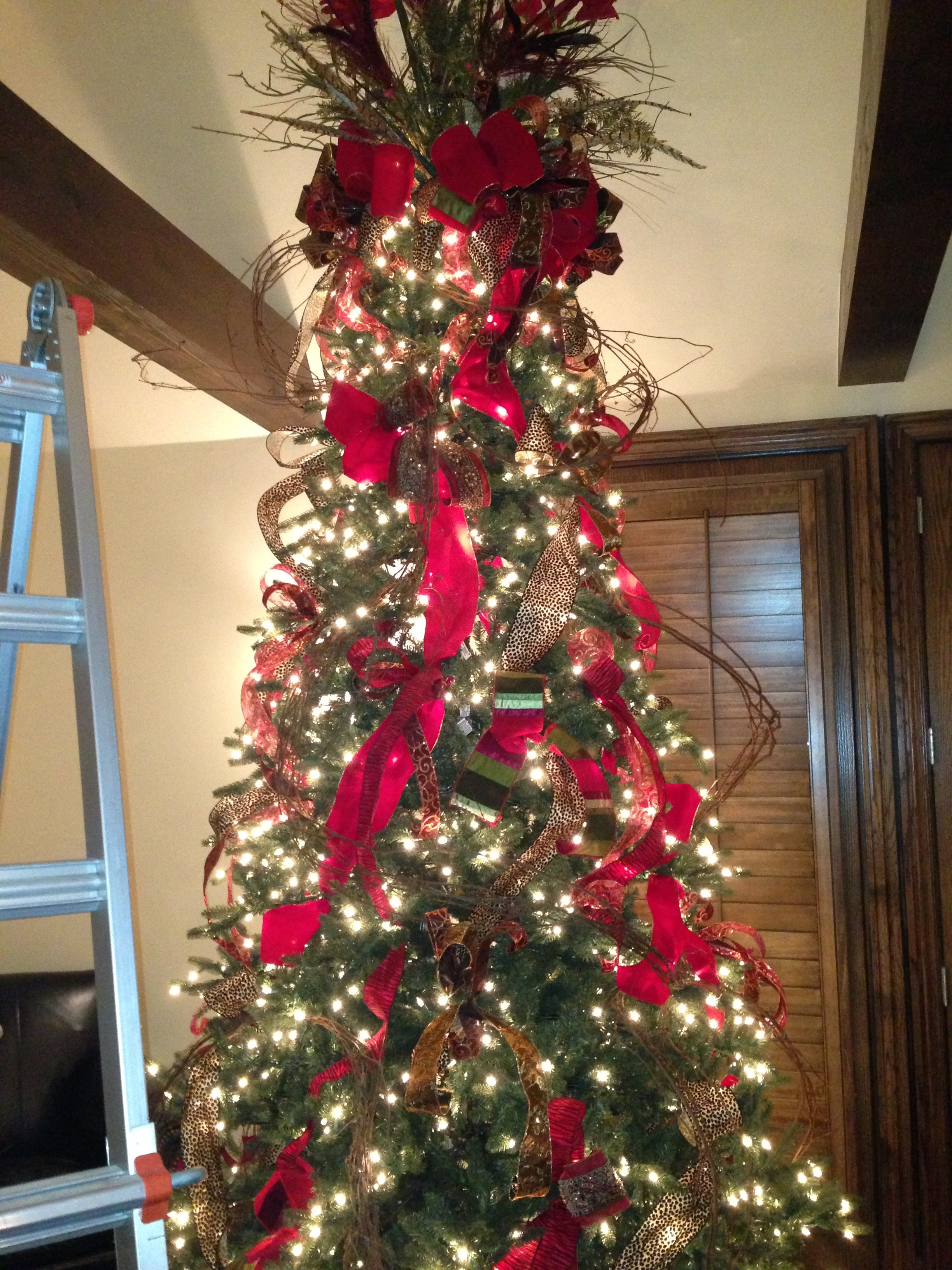 Grapevine Wreath And A Woodsy Christmas Tree To The Good