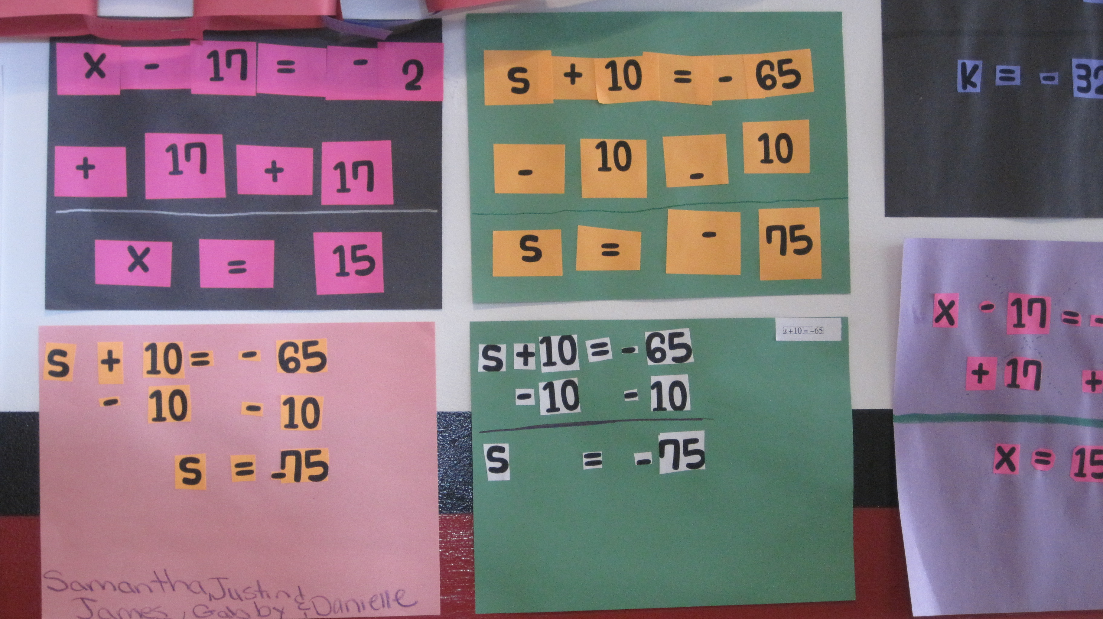 Solving One Step Equations Cut And Paste Activity