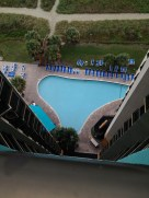 1 of 2 pools at our hotel (as seen from our room). They also had 4 hot tubs and a lazy river!