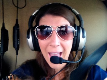 I'm in a helicopter!