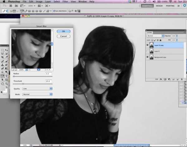 Как сделать на фото размытый задний фон в фотошопе онлайн ...