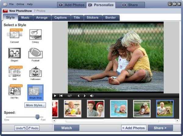Как сделать слайд шоу из фотографий с музыкой на windows 7 ...