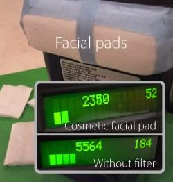 Facial pads test