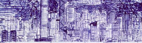 Ball pen sketch by Wyser Chu 2009