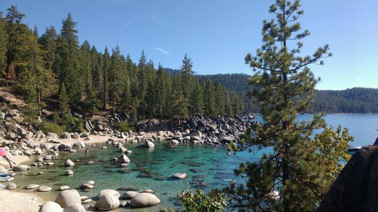 Hidden Cove of Lake Tahoe for Ellen Blazer's travel blog To Travel and Bloom