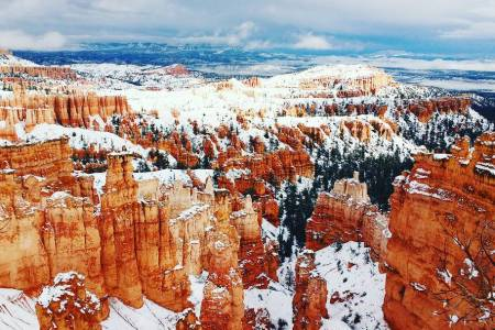 Bryce Canyon during my winter road trip, for Ellen Blazer's travel blog To Travel and Bloom