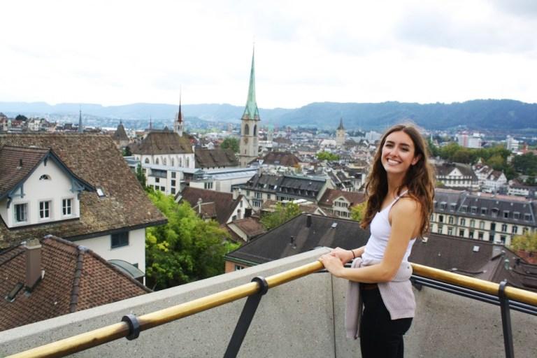 Overlook in Zurich, Switzerland for Ellen Blazer's travel blog To Travel and Bloom