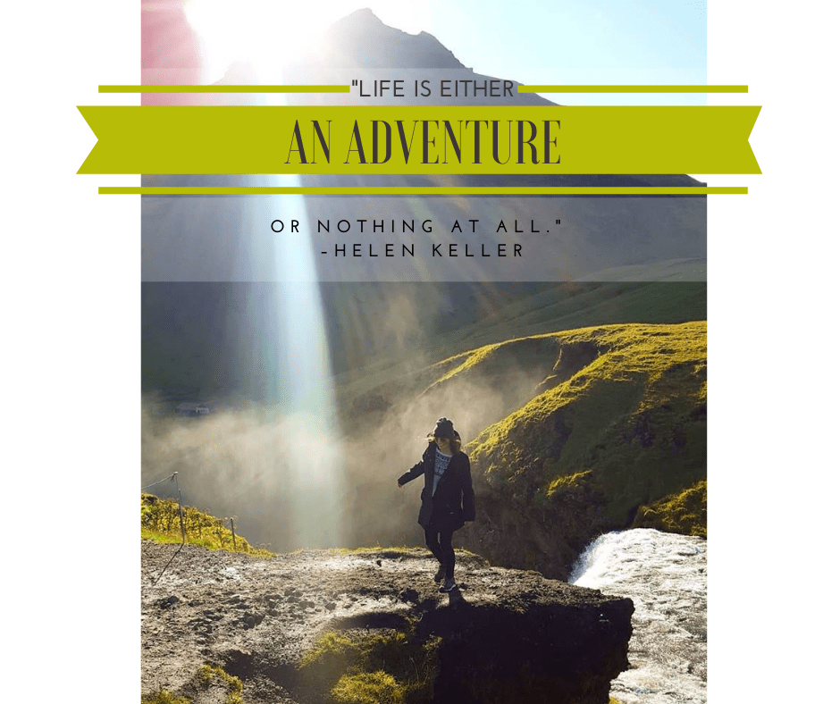 A travel quote and photo of Travel Agent Ellen Blazer in Iceland, for travel blog To Travel and Bloom