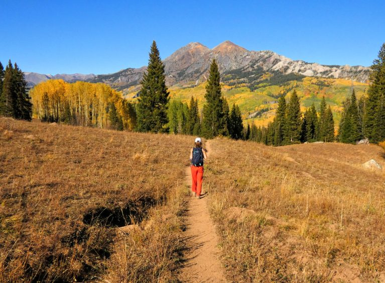 Hiking Cliff Creek Trail with mountain and aspen views