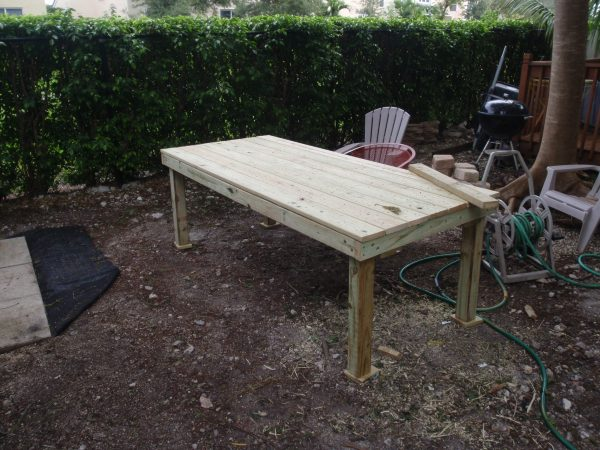 diy outdoor patio table DIY Backyard Patio Table | To Travel is Better Than to Arrive