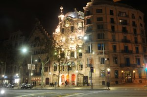Casa Batlo, a house designed by Gaudi