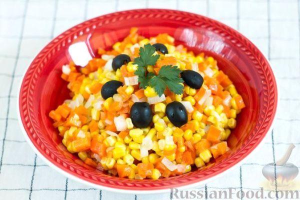 Салат из моркови с кукурузой и луком | totrecept.com