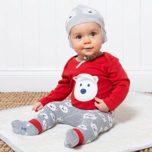 organic cotton baby bodysuit christmas