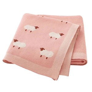 pink knitted baby blankets