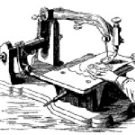 A sewing machine from 1881