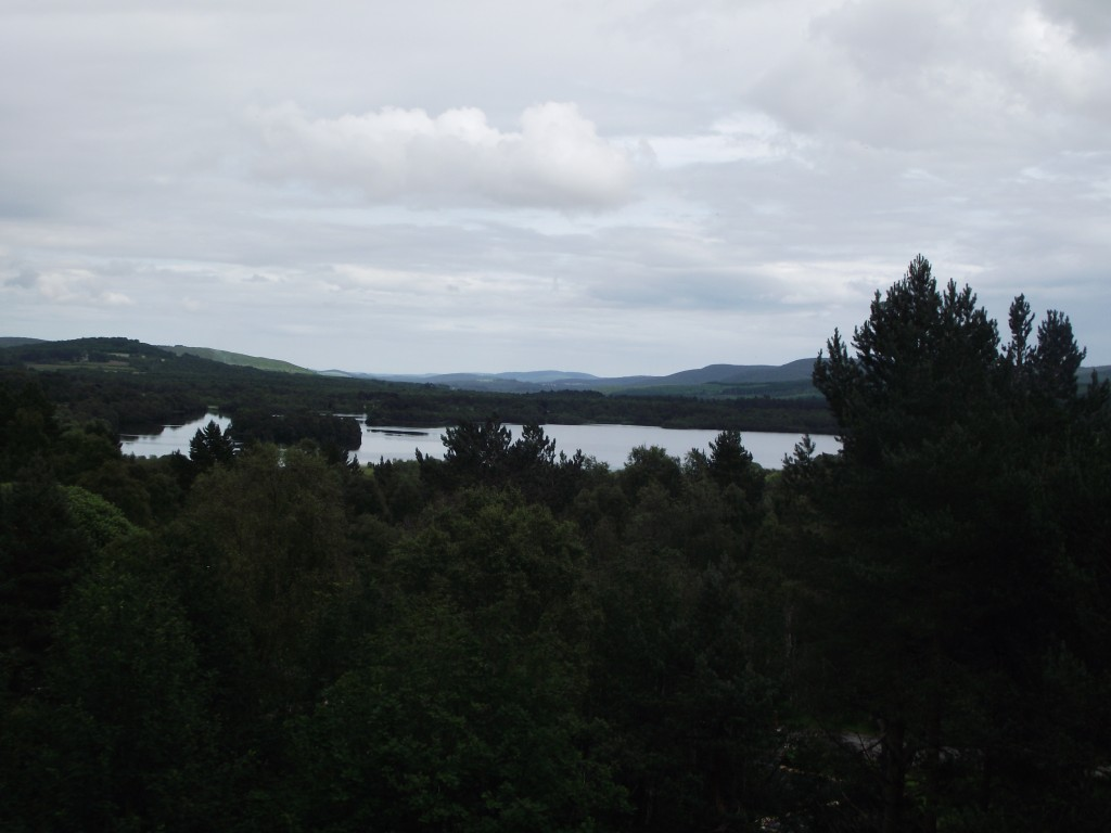 The view over to Loch Kinord