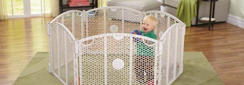 North States 6 Panel Play Gate for Babies January 18, 2021