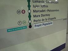 Station métro Front Populaire